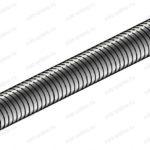 Шпилька резьбовая VM-A M24x1000, класс пр. 4,6 .24.1000VM