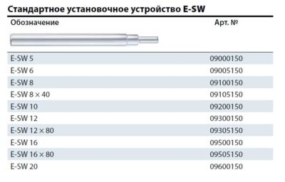 Установочное устройство E-SW 12 9300150