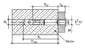 Высоконагрузочный анкер SZ-SK 10/40 М6 L=100 14031801